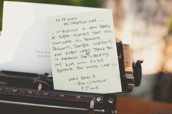 6 guest book note