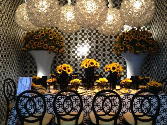Hartmann Studios table at the 2012 Dining by Design Event
