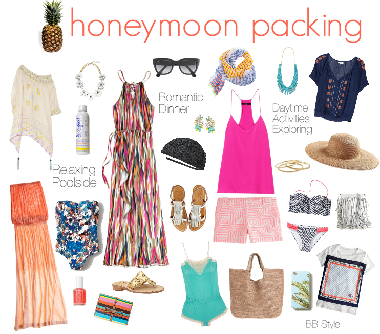 Honeymoon Packing Style Board