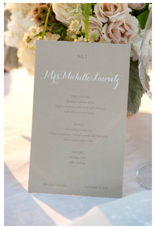 Place Setting that Doubles as a Menu - Photo by Gertrude & Mabel